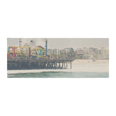 Laura Evans The Pier at Santa Monica Coastal Bed Runner