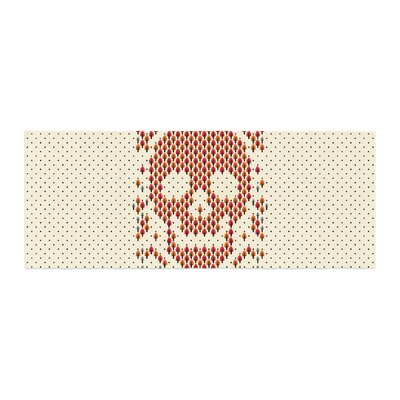 Tobe Fonseca Deforestation Skull Illustration Bed Runner
