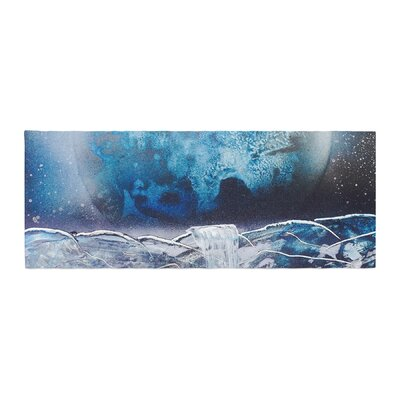 Infinite Spray Art Surreal Falls Planet Bed Runner