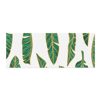 Banana Leaf Digital Bed Runner