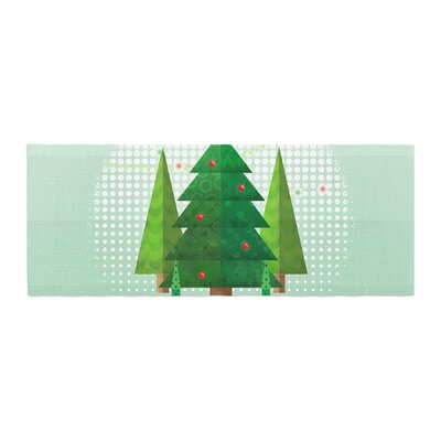 Noonday Design Geometric Christmas Tree Bed Runner