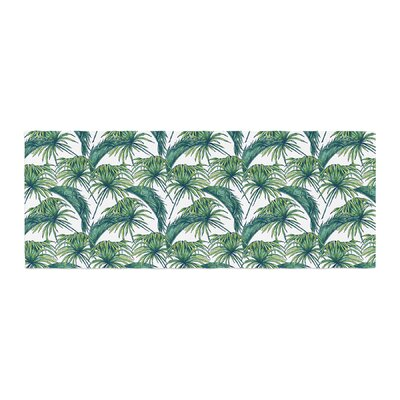 Palmtastic Abstract Bed Runner Color: Green