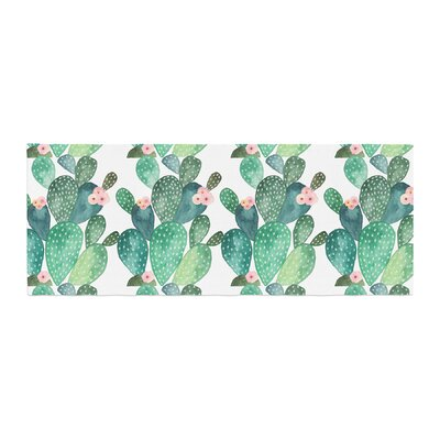Li Zamperini Cactus Watercolor Bed Runner