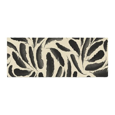 Skye Zambrana Feather Pattern Bed Runner