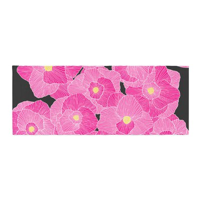 Skye Zambrana In Bloom Floral Bed Runner Color: Pink/Black