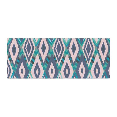 Nika Martinez Tribal Ikat Pattern Bed Runner