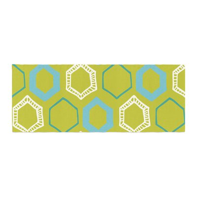 Laurie Baars Hexy Geometric Bed Runner Color: Blue