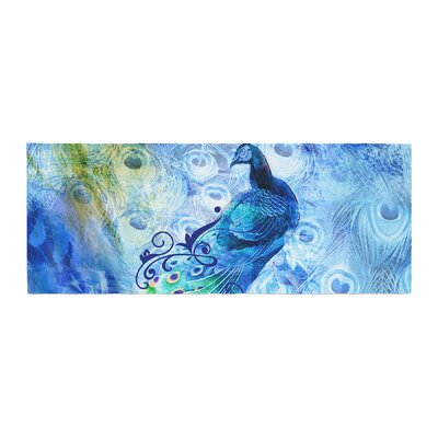 Victoria Krupp Peacock Digital Bed Runner