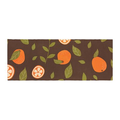 Strawberringo Pattern Abstract Food Bed Runner