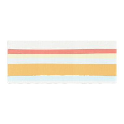 Nika Martinez Sand Stripes Bed Runner