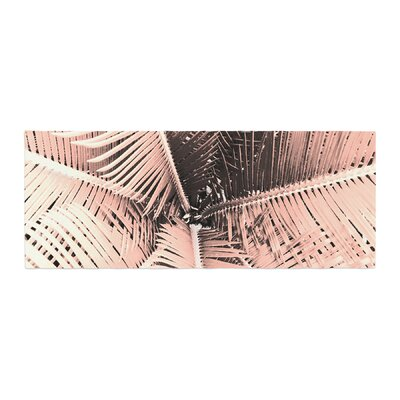 Suzanne Carter Palm Bed Runner Color: Peach