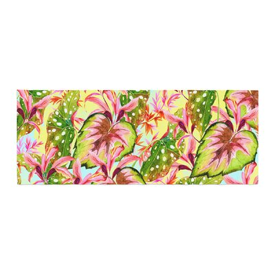 Mmartabc Exotic Botanical Pattern Illustration Bed Runner