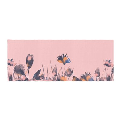 Hitidesign Crazy Flowers Illustration Bed Runner