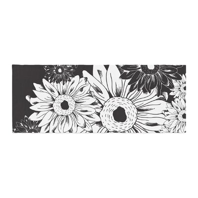Laura Escalante Midnight Florals Sunflower Bed Runner