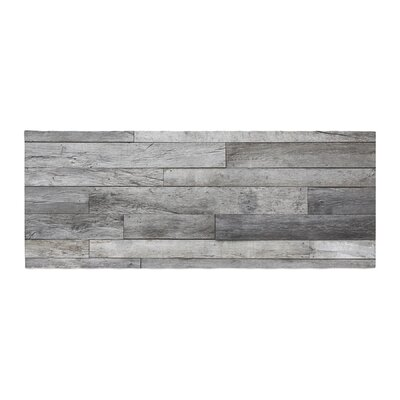 Susan Sanders Rustic Wood Photography Bed Runner