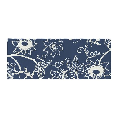 Laura Nicholson Passion Flower Floral Bed Runner