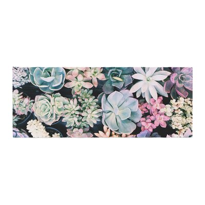 Kristi Jackson Succulent Gathering Photography Bed Runner