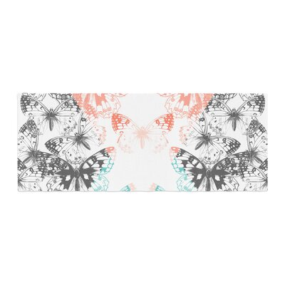 Victoria Krupp Geo Butterflies Illustration Bed Runner