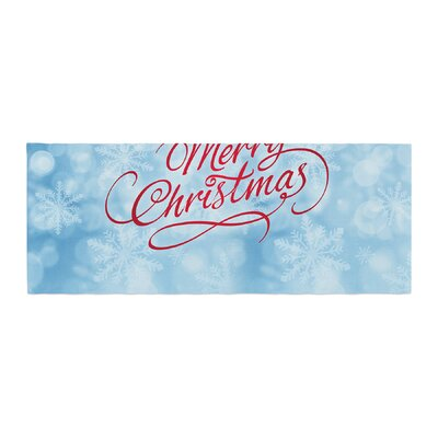 Snap Studio Merry Christmas Typography Bed Runner