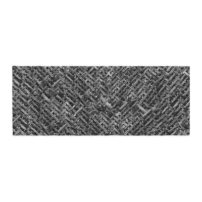 Susan Sanders Charcoal Bamboo Weave Photography Bed Runner