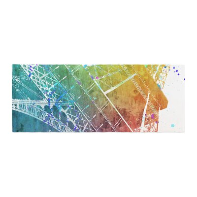 Nika Martinez Paris Je Taime Watercolor Bed Runner