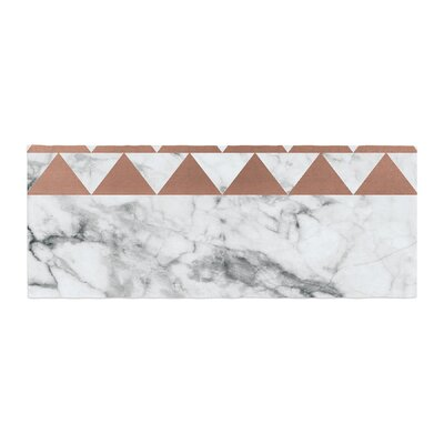 Marble and Metal Copper Bed Runner