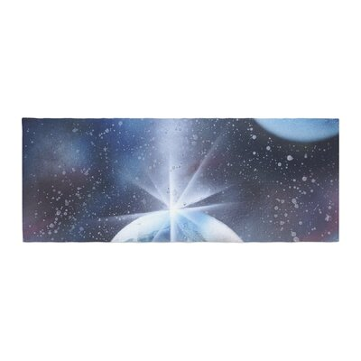 Infinite Spray Art Intergalactic Painting Bed Runner