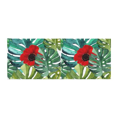 Li Zamperini Tropical Vibes Watercolor Bed Runner