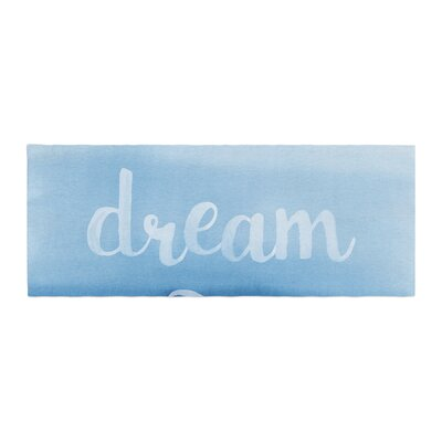 Dream Watercolor Typography Bed Runner