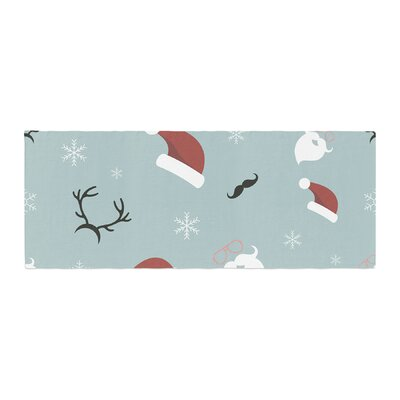 Louise Happy New Year! Christmas Santa Bed Runner