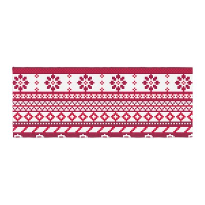 Noonday Design Fairisle Christmas Pattern Bed Runner