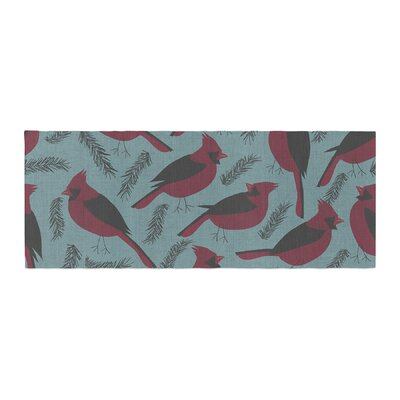 Michelle Drew Winter Birds Bed Runner