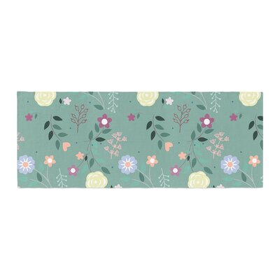 Louise Flora Flowers Bed Runner