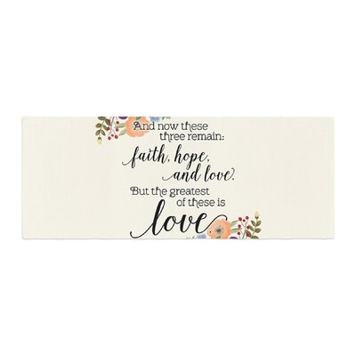 Noonday Design Faith, Hope, and Love Bed Runner