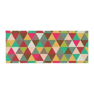 Autumn Triangle Spectrum Geometric Bed Runner