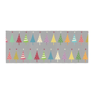 Snap Studio Crazy Trees Bed Runner Color: Clear