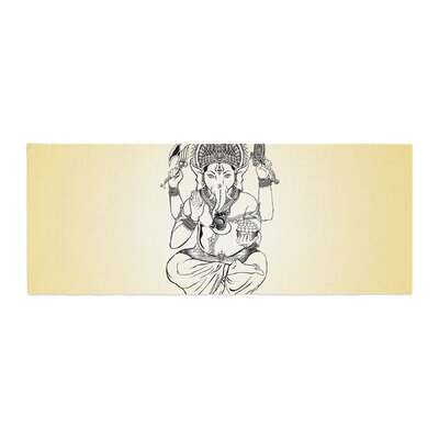 Ganesha Illustration Bed Runner