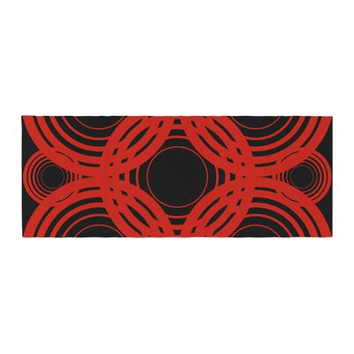 Kathryn Pledger Geo Crimson Geometric Bed Runner