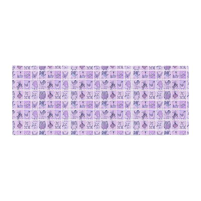 Marianna Tankelevich Cute Birds Bed Runner Color: Pink