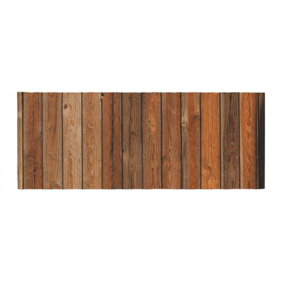 Susan Sanders Rustic Wood Wall Nature Bed Runner