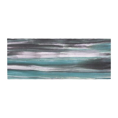 Hitidesign Mixed Brush Strokes Painting Bed Runner