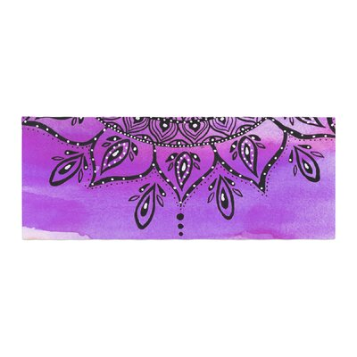 Li Zamperini Mandala Abstract Bed Runner Color: Black/Purple