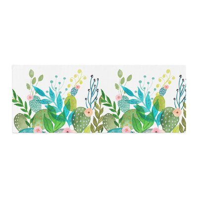 Li Zamperini Cute Foliage Watercolor Bed Runner