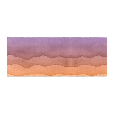 Ombre Sunrise Watercolor Bed Runner