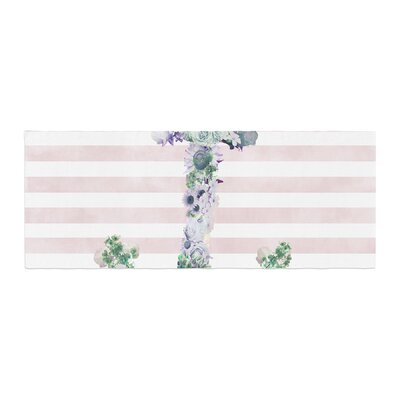 Nika Martinez Floral Anchor Stripes Bed Runner