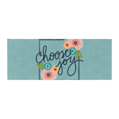 Noonday Design Choose Joy (Floral) Digital Bed Runner