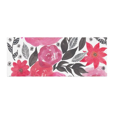Li Zamperini Garden Rose Floral Bed Runner