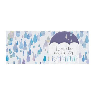 Noonday Design I Smile When Its Raining Bed Runner