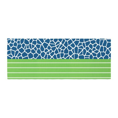 Trebam Staklo Digital Bed Runner Color: Dark Blue/Green