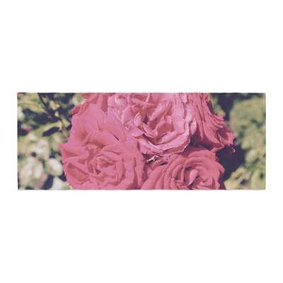 Susan Sanders Blooming Roses Floral Photography Bed Runner